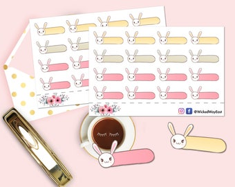 Bunny Box Sticker, Bunny Box Planner Stickers, Rabbit Label Sticker, 16 Stickers, Scrapbook Sticker, Planner Stationary Accessory