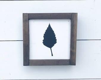 Birch Leaf | Farmhouse Sign