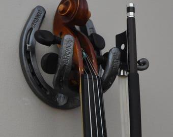 Forged Horseshoe Fiddle Hanger - FREE SHIPPING