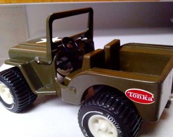 Vintage 1976-1977 Tonka Us Army Military 6 Inch Pressed Steel Jeep