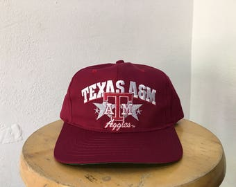 Vintage Texas A&M Aggies College City University snapback