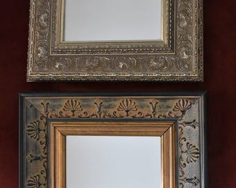two gilded vintage mirrors, 21X26 cm 1990's