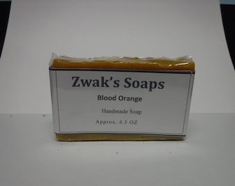 Handmade Soap with Blood Orange Essential Oil and Shea Butter