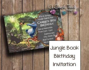 Jungle Book Birthday Party Invitation