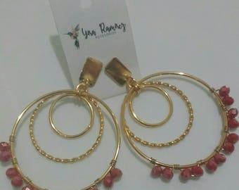 Earrings in Aros Trio