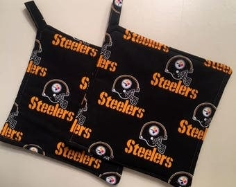 Pair Of NFL Pittsburgh Steelers Kitchen Hotpads