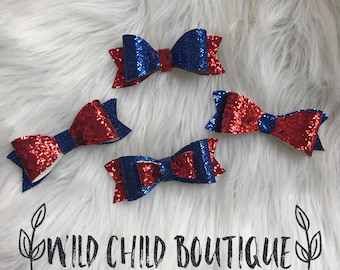 Red & blue bows