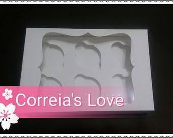 box Cupcake 6 units file cutting svg fcm silhouette scancut