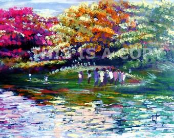 DENSU RIVER: Painting, African painting, African Art, original African art, downloadable art