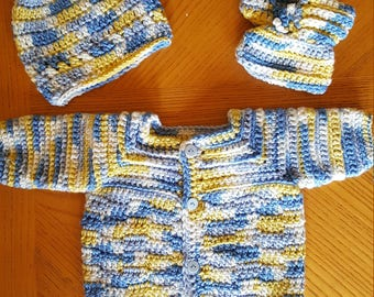 Baby Boy Newborn Sweater Set