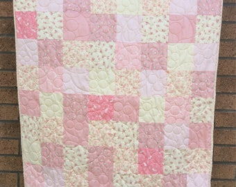 Handmade baby / toddler cot quilt