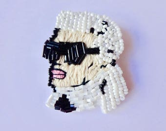 Karlito Hand Made Beaded Brooch