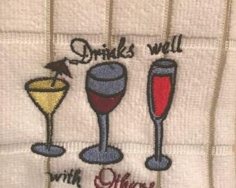 Wine lover's Microfiber kitchen towel.