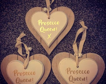 Wooden Prosseco Sign - Prosecco Queen - Wooden Sign - Prosecco Sign - Love Sign - 3D Sign - Wall Hanging Sign - Kitchen Sign