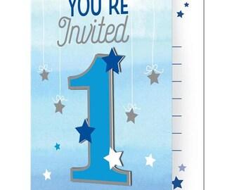 8 1st Birthday Invitations, Twinkle Twinkle Invitations, 1st Birthday Decor, Birthday Invitations, Star Invitations, Invites