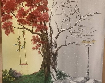 Summer/winter 20x20 canvas