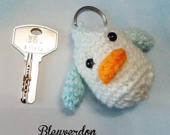 Key chain handmade crochet duckling