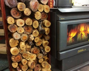 Decorative indoor woodstack