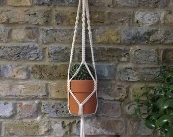 Natural Cotton Twist Detail Plant Hanger