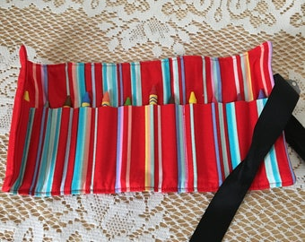 Striped Crayon Roll-up