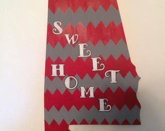 Alabama wooden door hanger