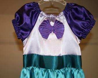 Ariel Little Mermaid clamshell dress