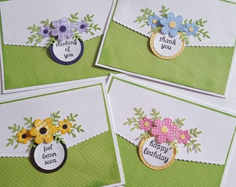 Set of 8 all occasion greeting cards