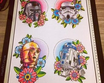 Star Wars Flash prints