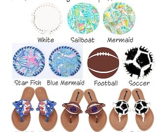 Sports, Beach, Greek, USA Monogrammed Sandals**Personalized**