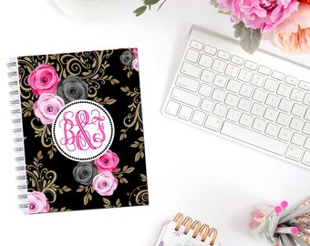 Elegant Roses I Planner Cover Personalized Monogram Dashboard Erin Condren Recollections A5 Personal Pocket Personal