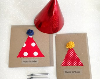 Greeting card SET x2 - Party hat