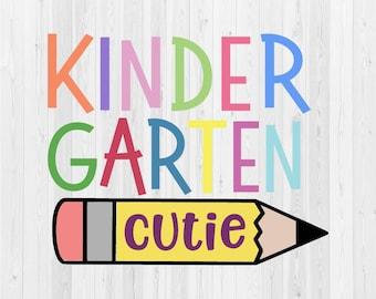 Kindergarten Cutie - SVG Cut File
