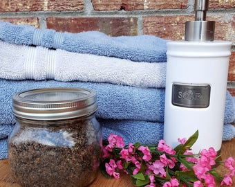 Exfoliating Coffee Sugar Face and Body Scrub - Rejuvenating, Skincare, Skin Smoothing, Skin Brightening, Face Wash, Body Wash, Cellulite