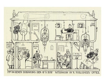 Poster - The afternoon of a fine art gallery - William Heath Robinson - Publisher