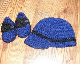 Baby Loafer & Hat Set