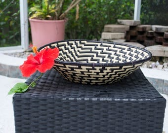 African Decorative Woven Bowl