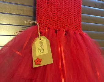 Handmade tutu red aged 6-7 years