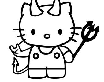 Hello Kitty Devil Sticker Decal