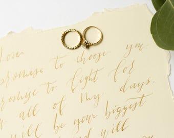 Blue watercolour calligraphy wedding invitation elegant wedding