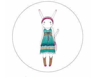 Miss Rabbit Cute Washi Tape/ Masking Tape Roll