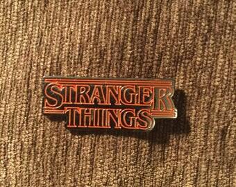 Stranger Things logo hat pin