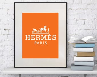 Hermes wall frame! Hermes wall art print!