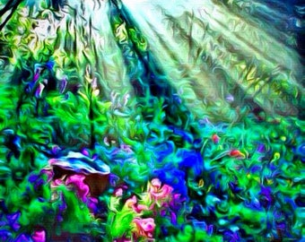 Secret Garden (Artisan-Quality Canvas Print)
