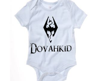 Skyrim - Dovahkid funny baby grow - baby clothes