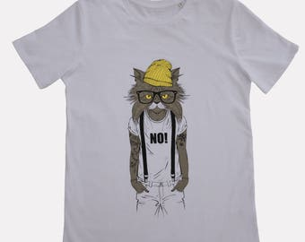 Organic T-shirt Humanimals - Cat