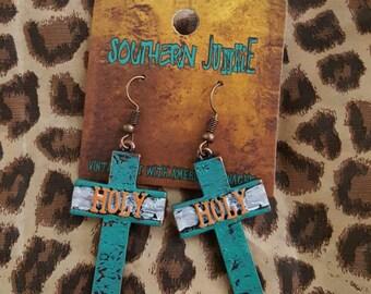 Holy Cross earrings