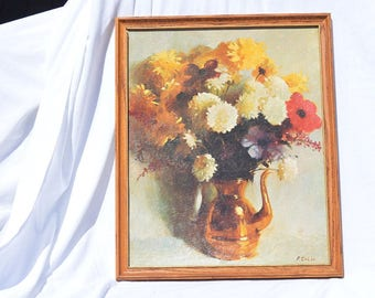 """Set of 3 Litho Prints """"Still Life"""" by R. Colao Textured Print 1964 - Museum Print Editions Inc. NY - Litho in the USA"""