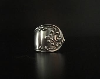 Towle Rustic Sterling Silver Spoon Ring 5.5