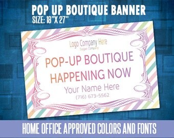 Yard Sign, Pop Up Boutique Banner, Boutique Yard Sign, 18x27'', Free Fast Personalization, Home Office Approved Color&Fonts
