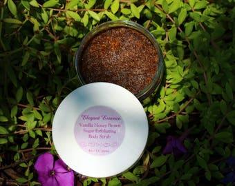 4oz Vanilla Honey Brown Sugar Body Scrub Organic